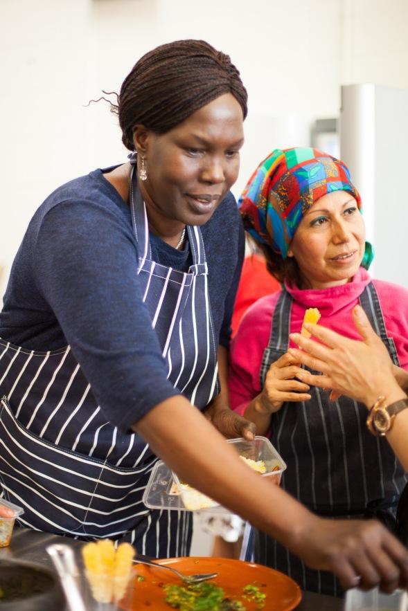 Mazi Mas' chefs Elizabeth and Melissa